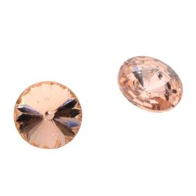 Bonny™ / crystal glass / rivoli / 8mm / Peach / 14pcs