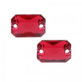 3252 Swarovski Crystal Emerald Sew On Stone 10x14mm Scarlet F Pk2