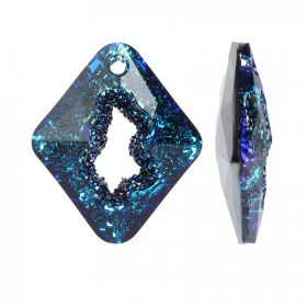 6926 Swarovski Growing Crystal Pendant Rhombus 36mm Crystal Bermuda Blue B Pk1