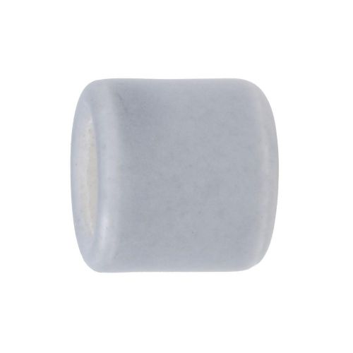 Ceramic beads / cylinder / 17x15.5x15.5mm / grey colour / hole 9.5mm / 2pcs