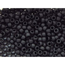 TOHO™ / Round / 8/0 / Opaque Frosted / Jet / 10g / ~ 300 pcs