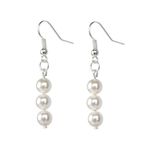 Heart and Pearl - Droplet Earrings