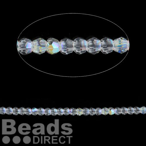 5000 Swarovski Crystal Faceted Rounds 2mm Crystal AB Pk24