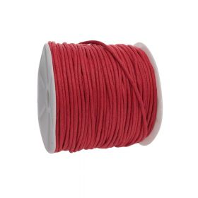 Waxed cord / red / 2.0mm / 72m