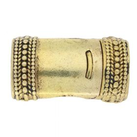Magnetic clasp / curved with pattern / 26x15x10mm / antique gold / 10x7mm hole / 1pcs
