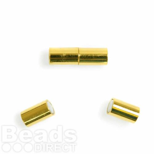 Gold Plated 5mm Barrel Magnetic Clasp Pk1