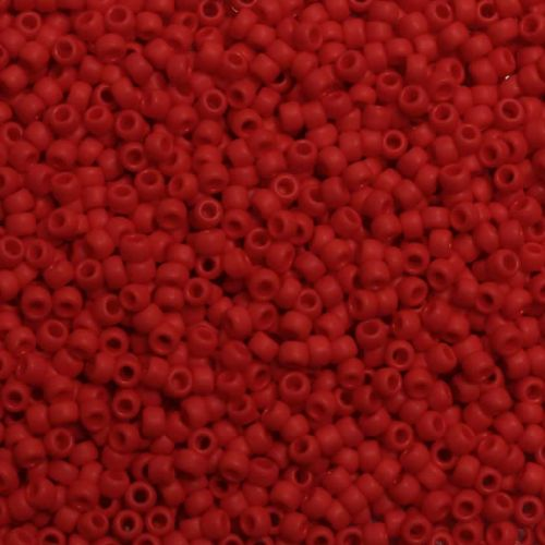 Toho Size 8 Round Seed Beads Opaque Frosted Cherry 7.5g TUBE