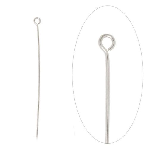 X-Silver Plated Brass Eyepins 50mm (2 inch) Pk100