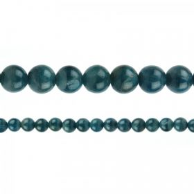 "Natural Apatite Semi Precious Rounds 6mm 15"" Strand"