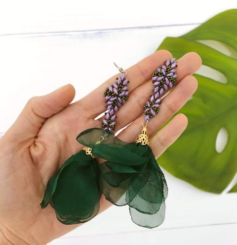 How to make dangly earrings with SuperDuo beads