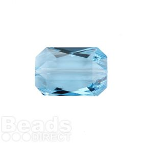 5515 Swarovski Crystal Emerald Cut 12.5x18mm Aquamarine Pk1