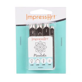 ImpressArt Mandala Multi Stamp Set Pk4 (3x6mm 1x3mm)