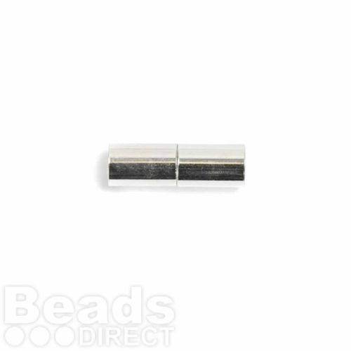 Silver Plated 6mm Barrel Magnetic Clasp Pk1