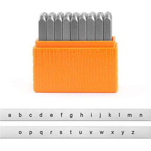 ImpressArt Lowercase Letter Embossing Stamps 3mm Pk27