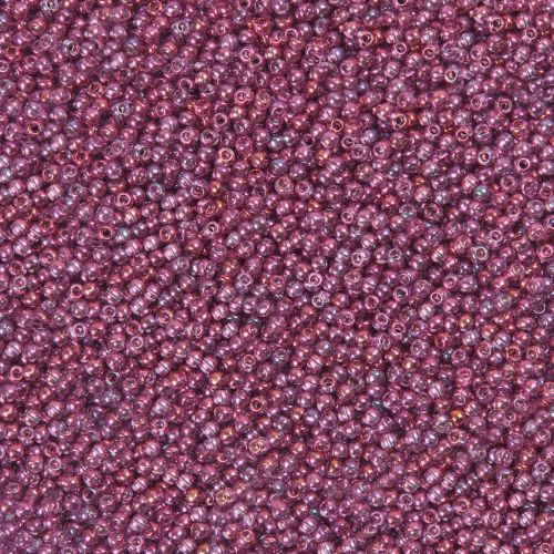 X- Toho Size 11 Round Seed Beads Gold Luster Amethyst 10g