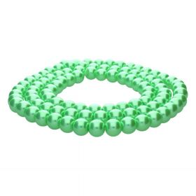 SeaStar™ / glass pearls / round / 8mm / green / 110pcs