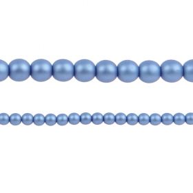 Blue Matte Czech Glass Round Pearl Beads 4mm Pk120