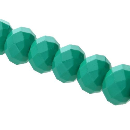 Milly™ / rondelle / 8x10mm /green / 70pcs