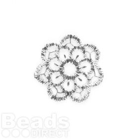 Titanium Plated Lace Effect Filigree Flower 23mm Pk1