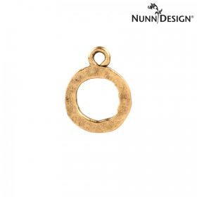 Nunn Design Antique Gold Small Hammered Ring 13mm Pk1