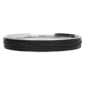 Elastoma / jewellery elastic / 0.5x0.8mm / black / 5m