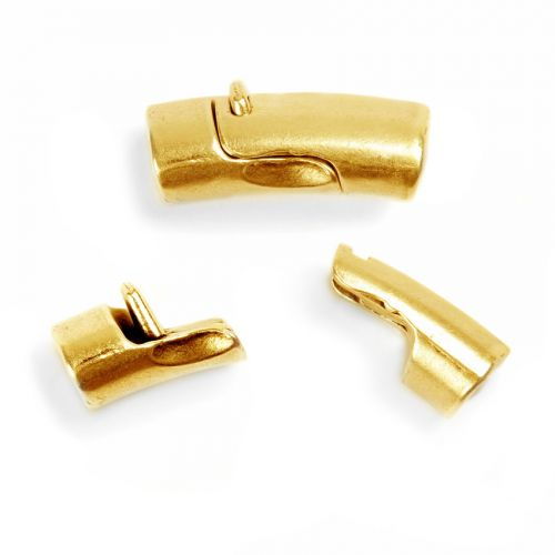 Gold Plated Magnetic Clasp for Regaliz Leather 25x13mm Pk1