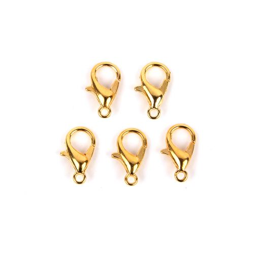 Gold Plated Lobster Clasps 7x12mm Pk5
