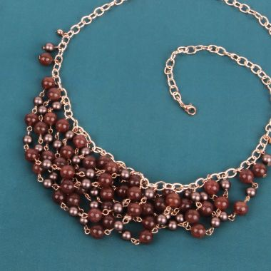 Semi-Precious Swag Necklace | Take a Make Break