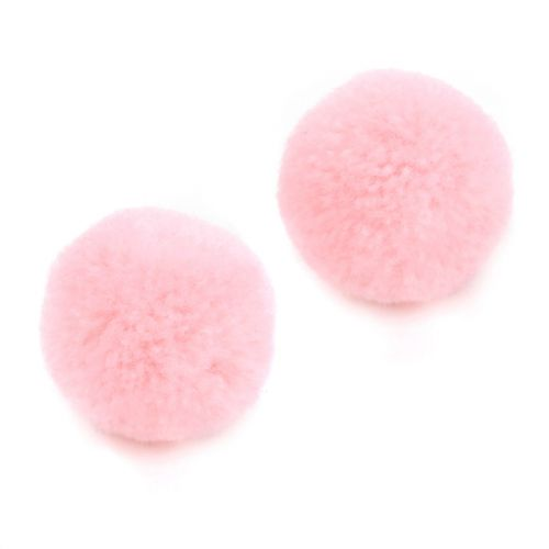 Pink Craft Pom Poms 18mm Pk10