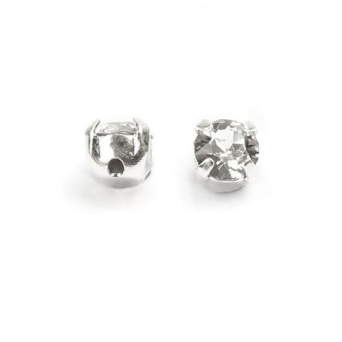 53200 Swarovski Chaton Montees 4mm Crystal Clear Pk24