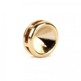 Gold Plated SS39 Chaton Multi Hole Round Setting 4x10mm Pk1