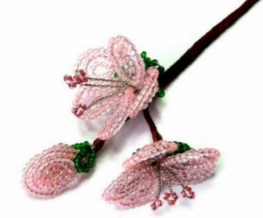 Cherry Blossom - French Beaded Flowers Tutorial