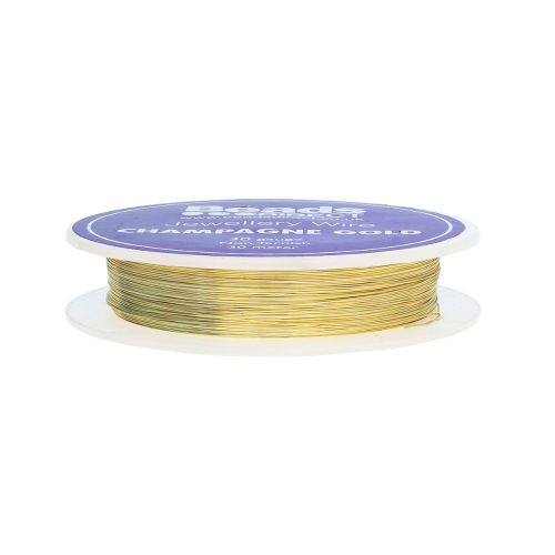 Champagne Gold Colour Copper Craft Wire 30 Gauge (0.2mm) 30metre Reel