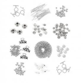 Silver Plated Findings Bundle 12 x assorted packs
