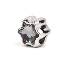 81961 Swarovski Crystal Edelweiss BeCharmed Bead 13.5mm Crystal Silver Night Pk1