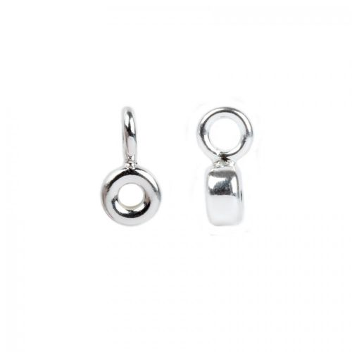 Sterling Silver 925 Small Charm Carrier 3x5mm(inner hole 2mm) Pk1