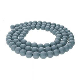 Milly™ / round / 8mm / steel / 105pcs