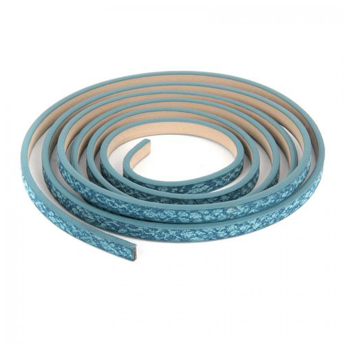 Blue Snake Effect PU Flat Cord 5mm 1.2metre