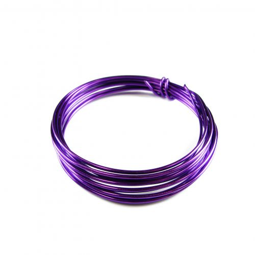 Aluminium Beading Wire 1.5mm Purple 3metres