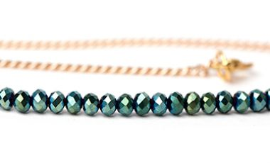 Beads of the Week: Green Chinese Crystal Faceted Rondelles
