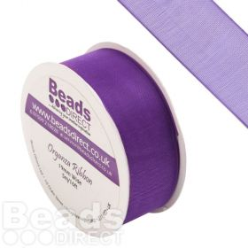 Purple Organza Ribbon 19mm Sold on a 5 Metre Reel