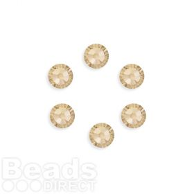 2088 Swarovski Crystal Flat Backs SS34 7mm Light Silk F Pk6
