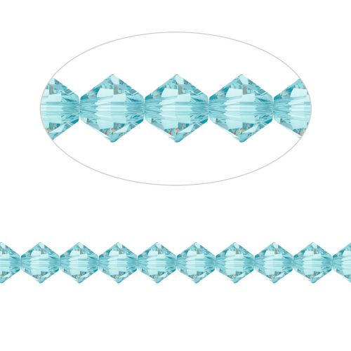 5328 Swarovski Crystal Bicones Xillion 4mm Light Turquoise Pk24