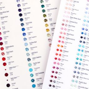 Swarovski colour charts & crystal pixie