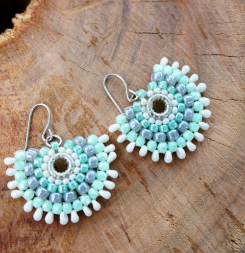 How to make beaded fan earrings – beaded earrings. A jewellery making tutorial