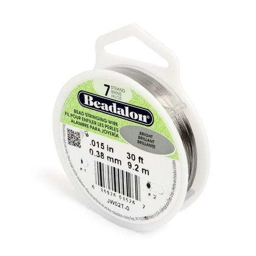 X Beadalon 7 Strand Flexible Beading Wire 'Bright' 0.015in 30ft