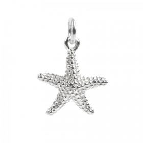 Sterling Silver 925 Starfish Charm 12mm Pk1