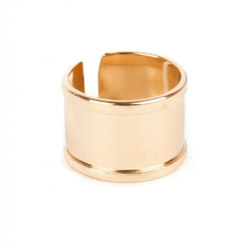 Gold Plated Ring Base 68x15mm Space for Cord Diameter-65mm Pk1