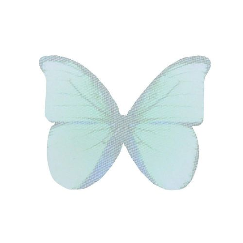 Butterfly wings / organza / 38x48mm / turquoise / 4pcs