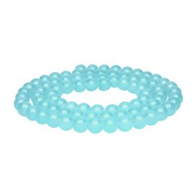 MIST ™ / round / 8mm / light turquoise / 105pcs